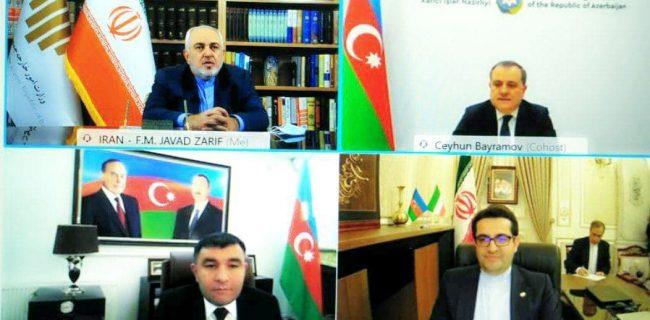 وزیران امور خارجه ایران و آذربایجان شرایط پسا جنگ در منطقه را بررسی کردند