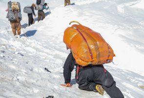 کولبری در برف